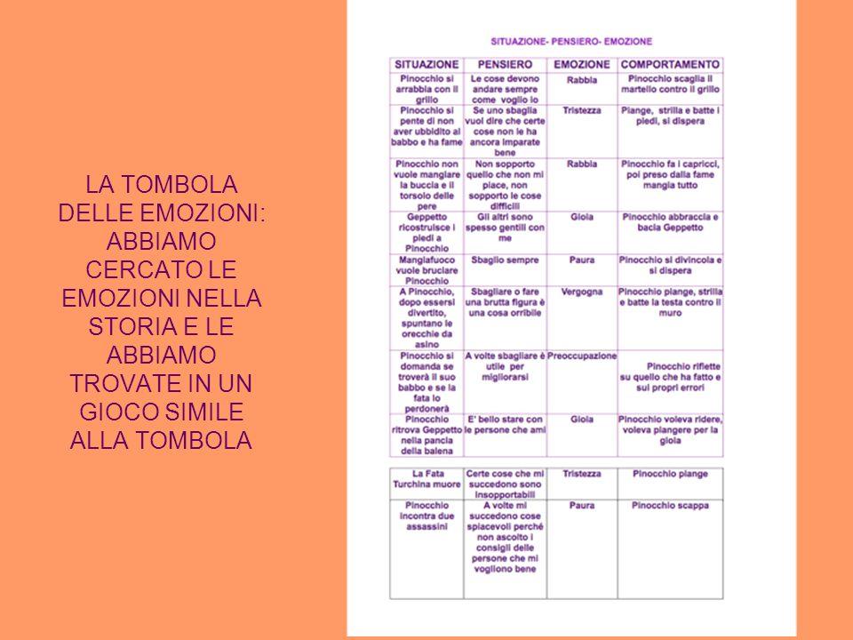 LA TOMBOLA DELLE EMOZIONI: ABBIAMO CERCATO LE EMOZIONI NELLA STORIA E LE ABBIAMO TROVATE IN UN GIOCO SIMILE ALLA TOMBOLA