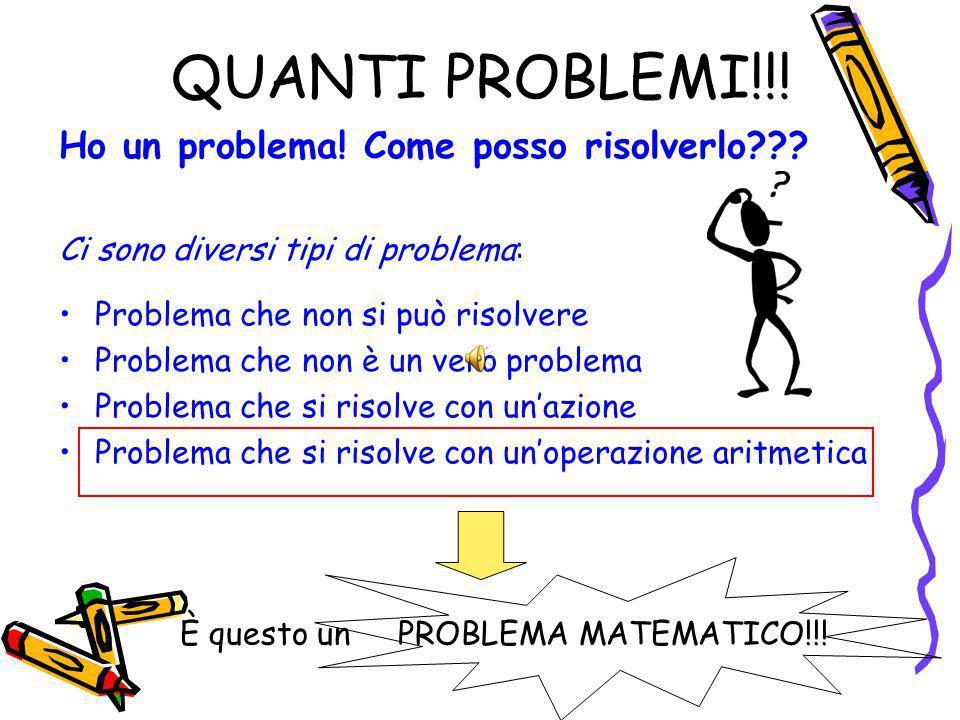 QUANTI PROBLEMI!!.Ho un problema. Come posso risolverlo??.
