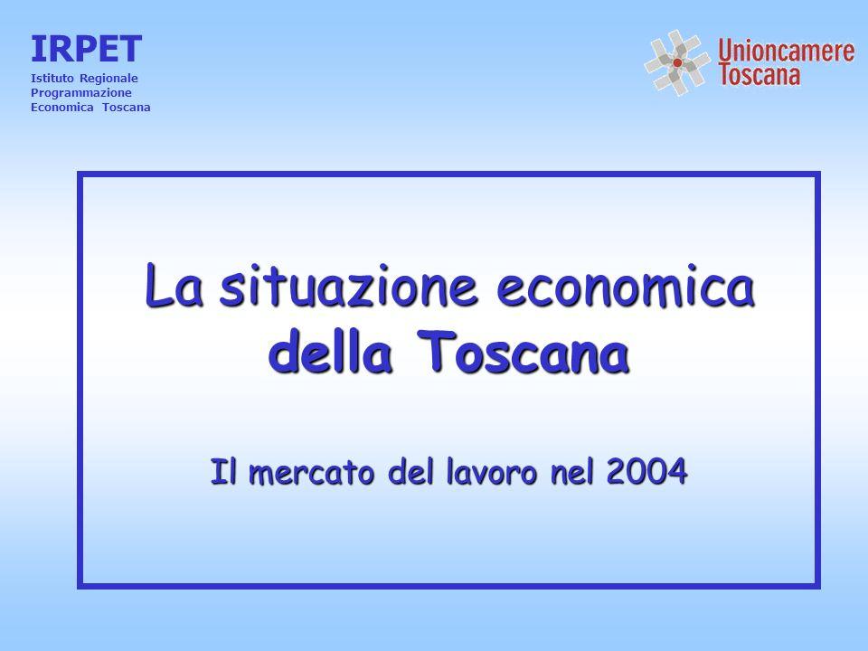 La situazione economica della Toscana Il mercato del lavoro nel 2004 IRPET Istituto Regionale Programmazione Economica Toscana