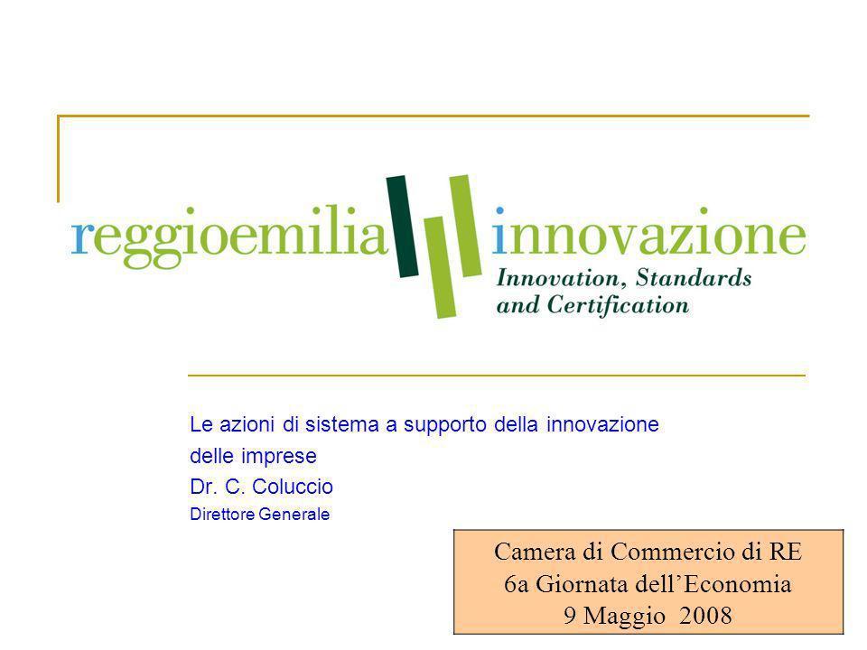 1 Le azioni di sistema a supporto della innovazione delle imprese Dr.