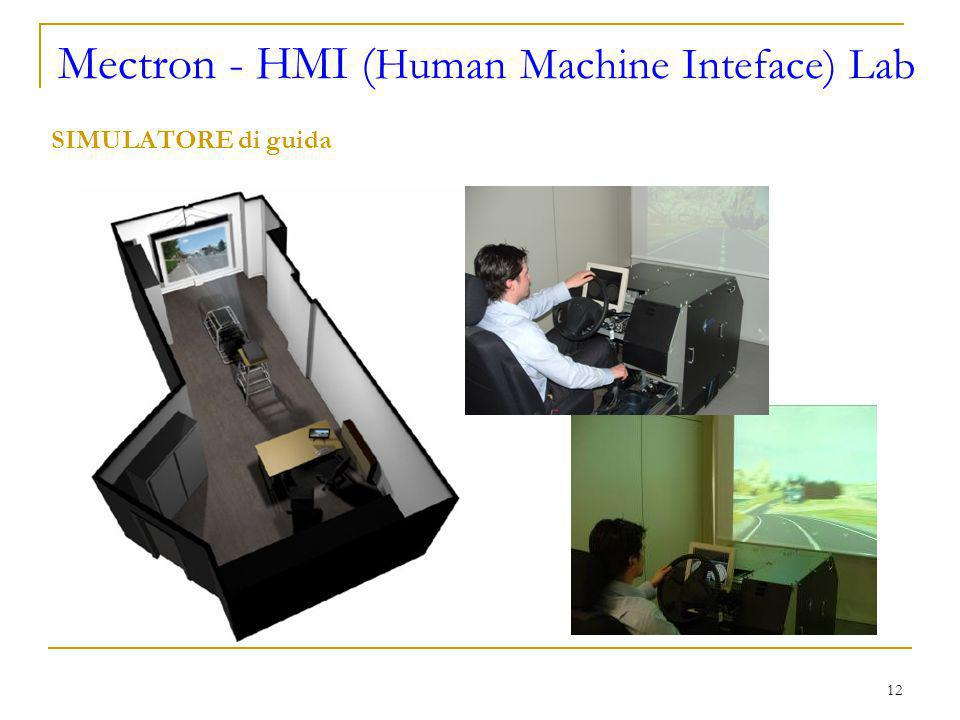 12 Mectron - HMI ( Human Machine Inteface) Lab SIMULATORE di guida