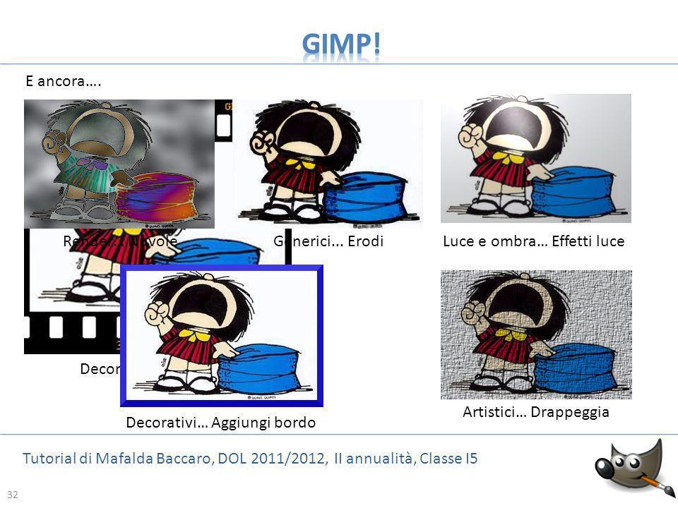 32 Tutorial di Mafalda Baccaro, DOL 2011/2012, II annualità, Classe I5 32 E ancora…. Render… Nuvole Decorativi: Diapositive Generici... ErodiLuce e om
