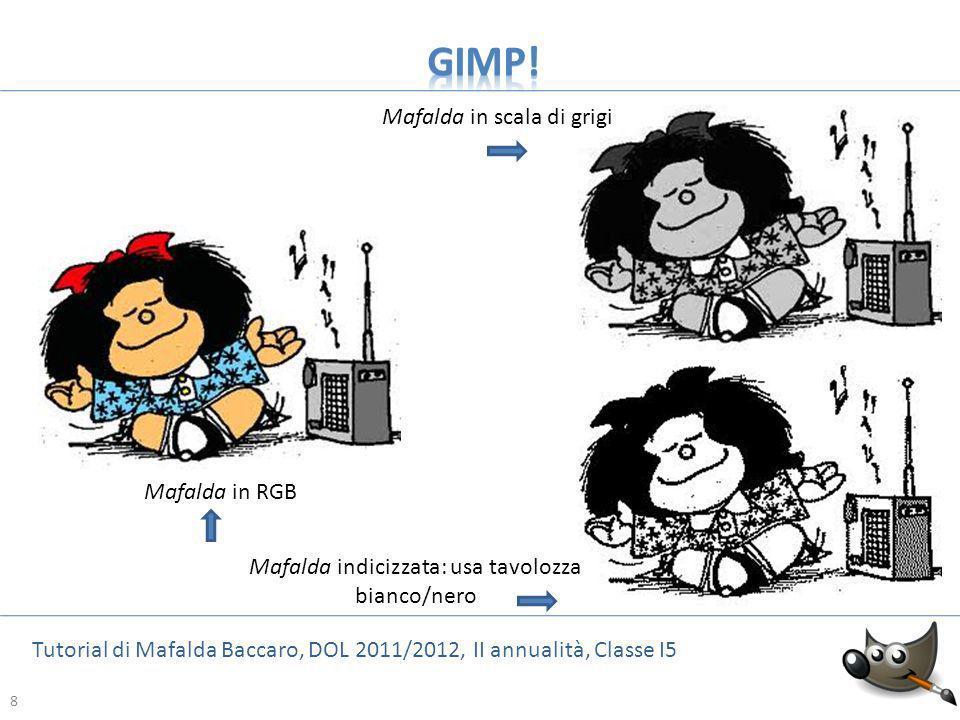 19 Tutorial di Mafalda Baccaro, DOL 2011/2012, II annualità, Classe I5 19 Ecco cosa accade se si riducono in maniera considerevole i valori della larghezza e dellaltezza: si perde una parte dellimmagine.