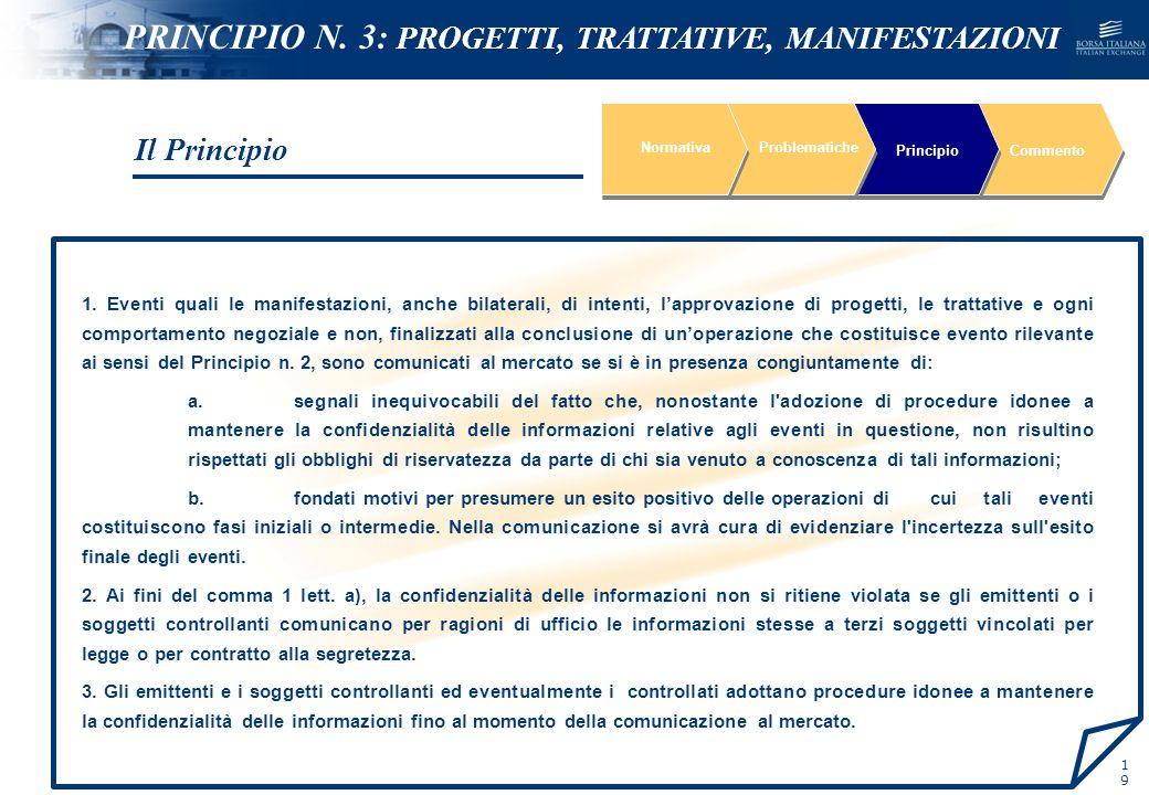 NOMEFILE_DATA_DIPARTIMENTO 1. Eventi quali le manifestazioni, anche bilaterali, di intenti, lapprovazione di progetti, le trattative e ogni comportame