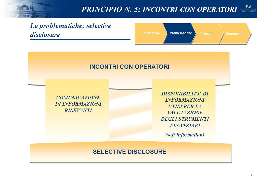 NOMEFILE_DATA_DIPARTIMENTO NormativaProblematiche PrincipioCommento INCONTRI CON OPERATORI DISPONIBILITA DI INFORMAZIONI UTILI PER LA VALUTAZIONE DEGL