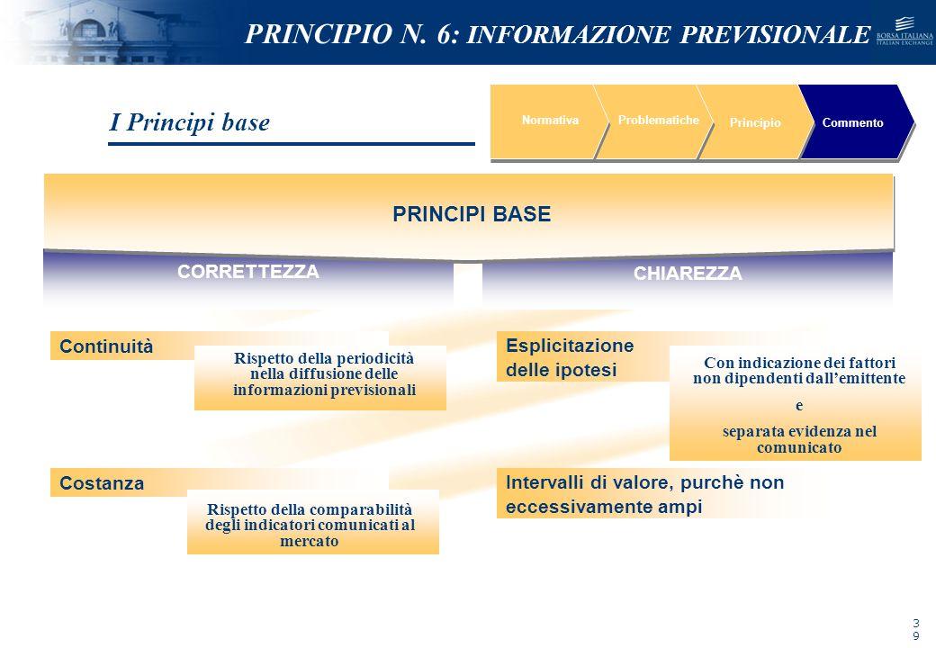 NOMEFILE_DATA_DIPARTIMENTO NormativaProblematiche PrincipioCommento Continuità Costanza Esplicitazione delle ipotesi Intervalli di valore, purchè non
