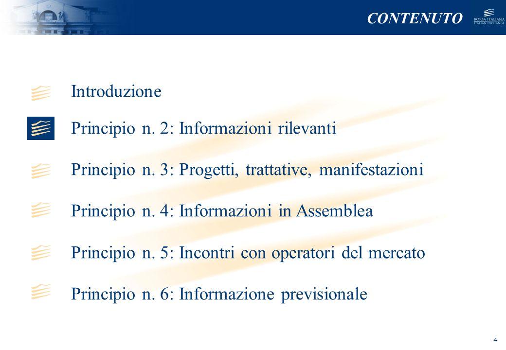 NOMEFILE_DATA_DIPARTIMENTO PRINCIPIO N.2: INFORMAZIONI RILEVANTI Art.