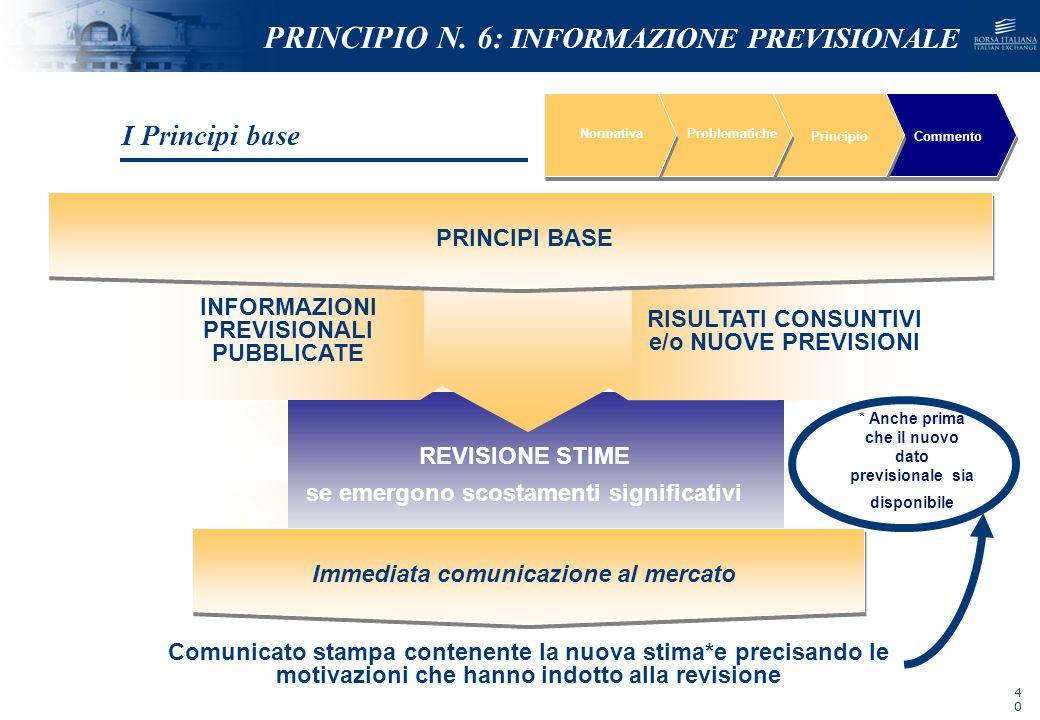 NOMEFILE_DATA_DIPARTIMENTO REVISIONE STIME se emergono scostamenti significativi NormativaProblematiche PrincipioCommento PRINCIPI BASE INFORMAZIONI P