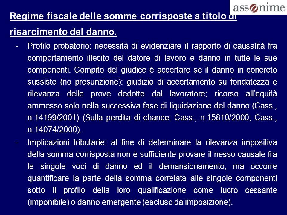 Erogazioni in natura ESAMINATE DA A.F.-Polizze assicurative responsabilità civile: Ris.
