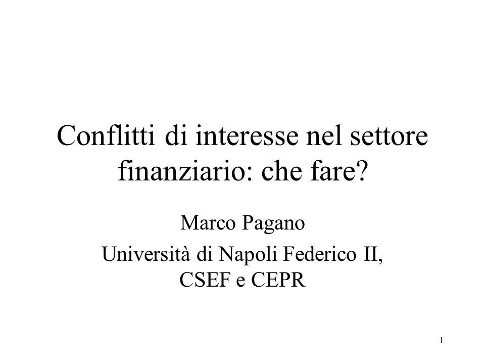 1 Conflitti di interesse nel settore finanziario: che fare.