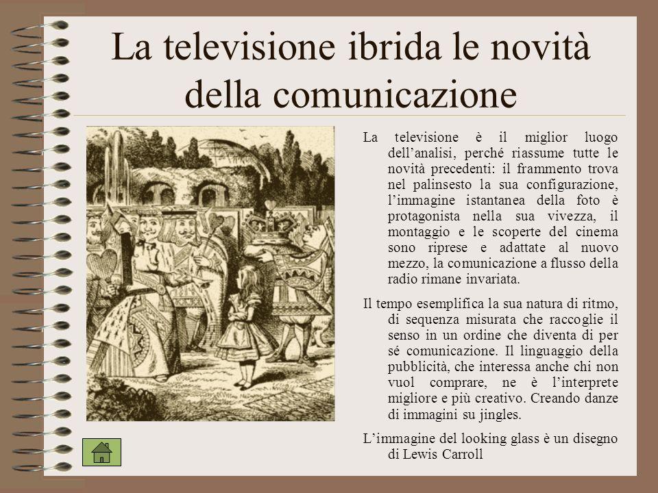 La televisione ibrida le novità della comunicazione La televisione è il miglior luogo dellanalisi, perché riassume tutte le novità precedenti: il fram