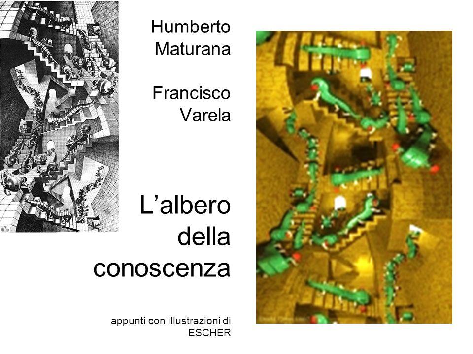 Humberto Maturana Francisco Varela Lalbero della conoscenza appunti con illustrazioni di ESCHER