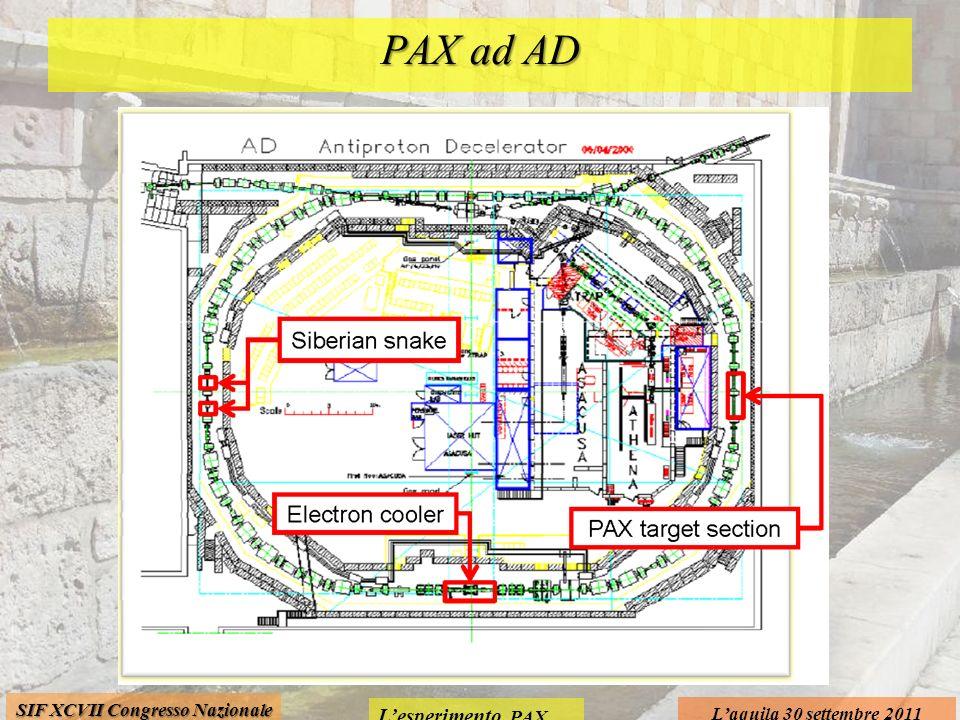 Lesperimento PAX Laquila 30 settembre 2011 SIF XCVII Congresso Nazionale PAX ad AD
