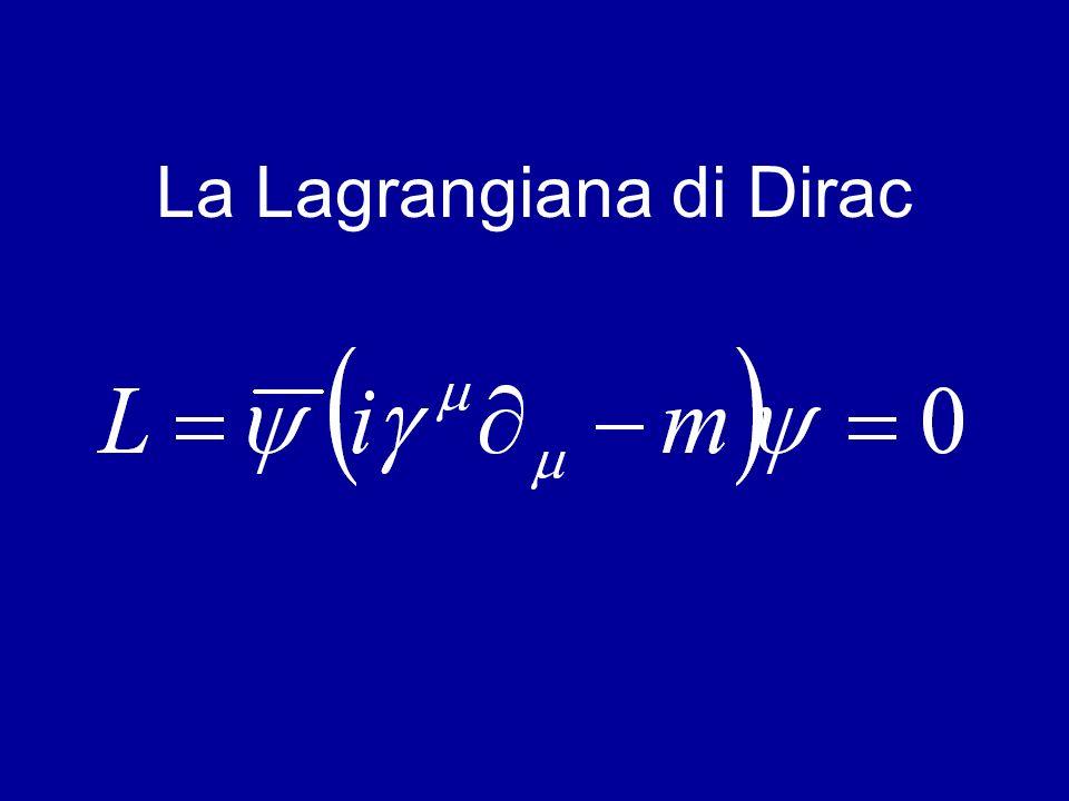 La Lagrangiana di Dirac