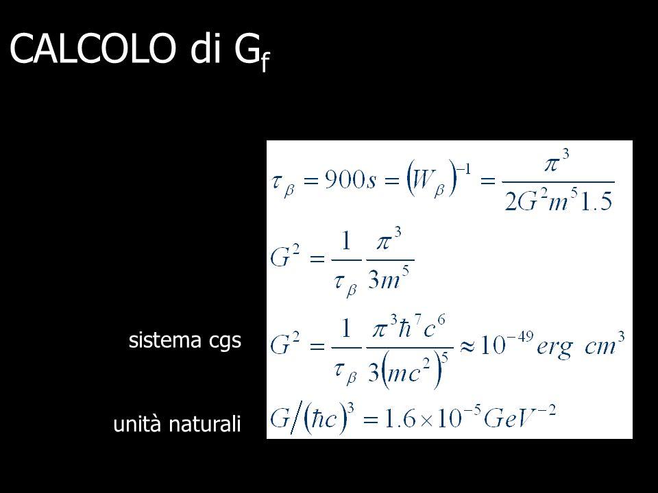 sistema cgs unità naturali CALCOLO di G f