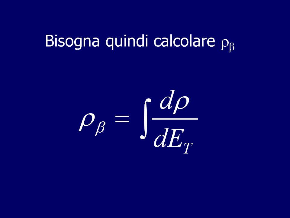 Linterazione universale di FERMI Lo spazio delle fasi è determinato da due particelle indipendenti: dato che il momento della terza particella è determinato dalle altre due
