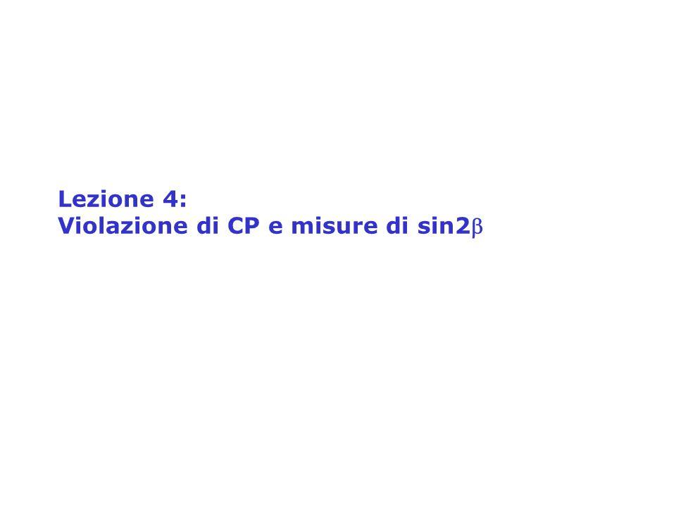 Lezione 4: Violazione di CP e misure di sin2