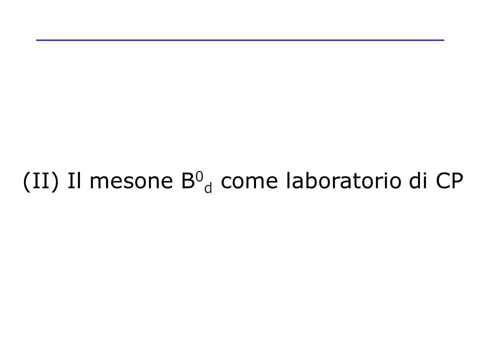 (II) Il mesone B 0 d come laboratorio di CP