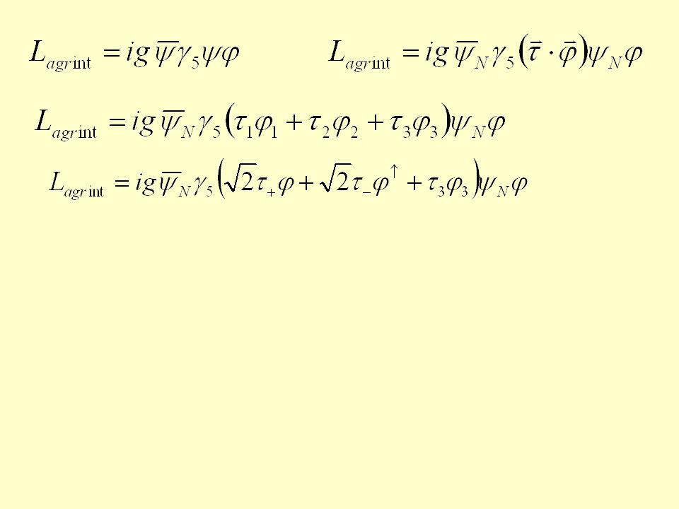 covariant derivativeper doppietti di SU(2) covariant derivative per doppietti di SU(2) fermioni sinistrorsi Bisogna generalizzare questo risultato 1.spazio interno di weak isospin.