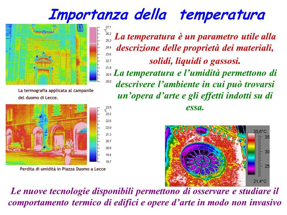 Importanza della temperatura La temperatura è un parametro utile alla descrizione delle proprietà dei materiali, solidi, liquidi o gassosi. La tempera