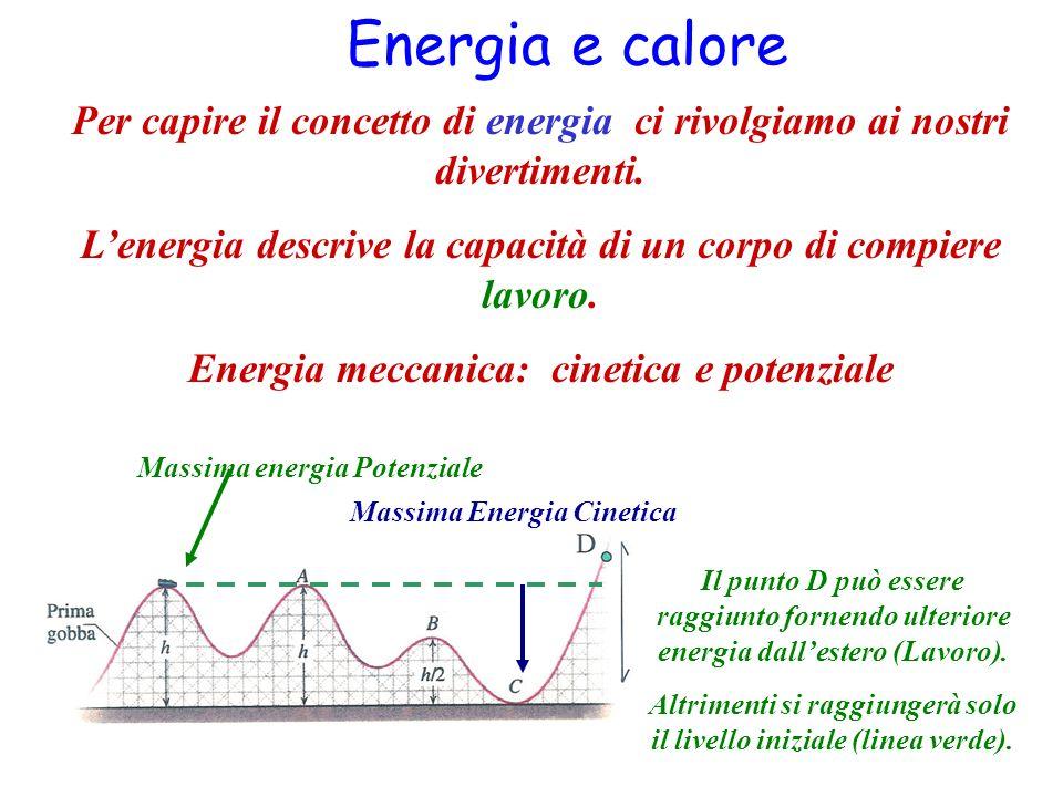 Energia e calore Per capire il concetto di energia ci rivolgiamo ai nostri divertimenti. Lenergia descrive la capacità di un corpo di compiere lavoro.