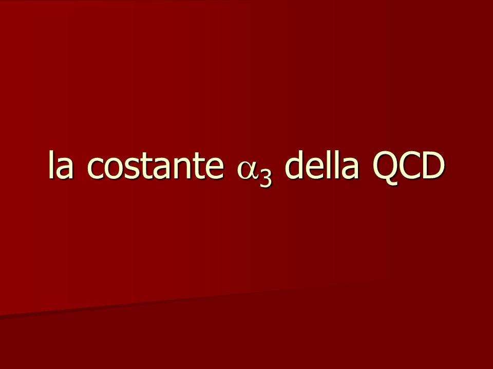 la costante 3 della QCD
