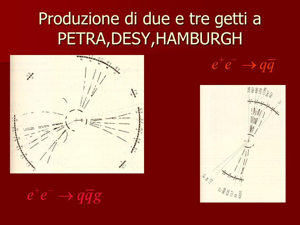 Produzione di due e tre getti a PETRA,DESY,HAMBURGH
