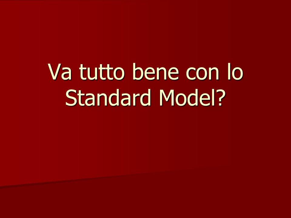 Va tutto bene con lo Standard Model?