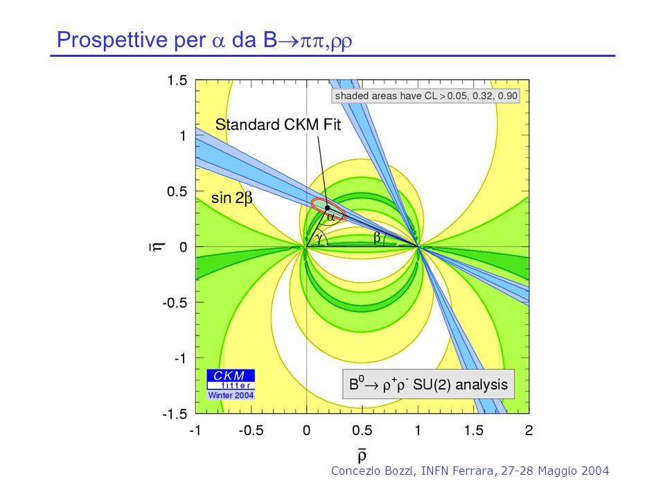 Concezio Bozzi, INFN Ferrara, 27-28 Maggio 2004 Prospettive per da B