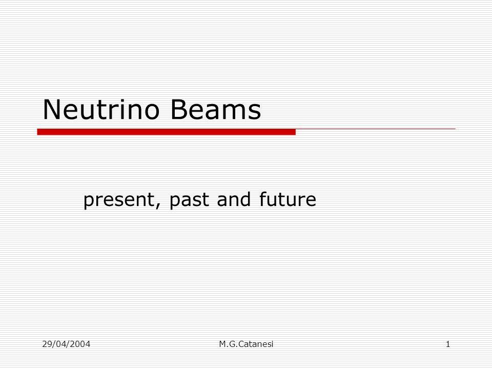 29/04/2004M.G.Catanesi22 Flusso atteso di neutrini per k2k K2K far/near ratio Beam MC confirmed by Pion Monitor To be measured by HARP 0.5 1.0 1.5 2.0 2.5 0 oscillationpeak