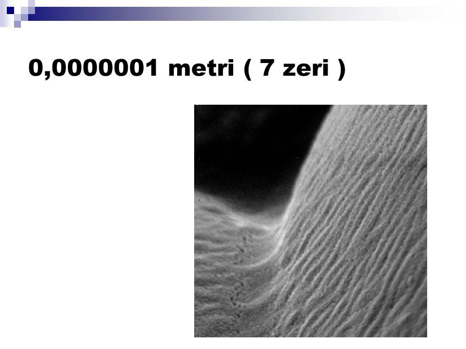 0,0000001 metri ( 7 zeri )