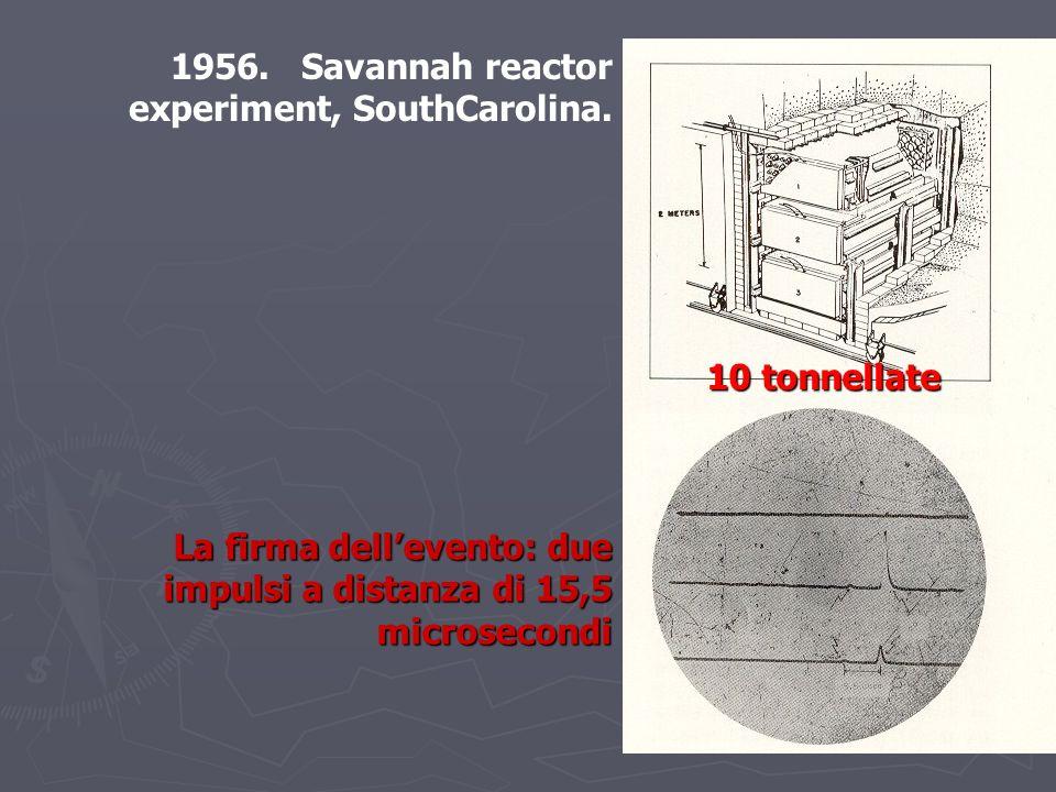 10 tonnellate La firma dellevento: due impulsi a distanza di 15,5 microsecondi 1956.