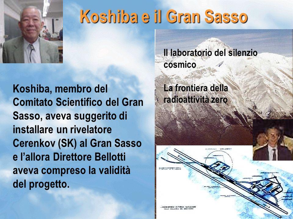 16 Il laboratorio del silenzio cosmico La frontiera della radioattività zero Koshiba e il Gran Sasso Koshiba, membro del Comitato Scientifico del Gran