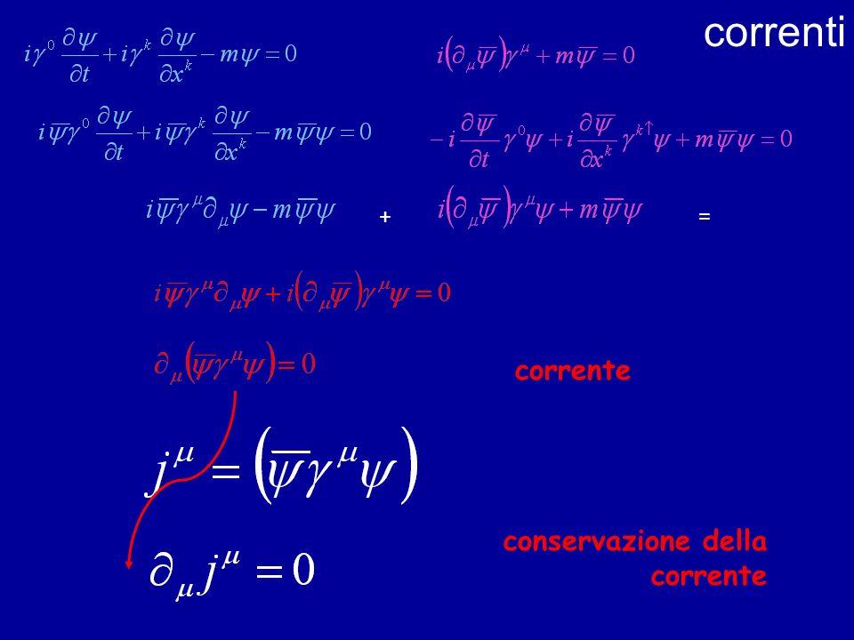 correnti =+ corrente conservazione della corrente