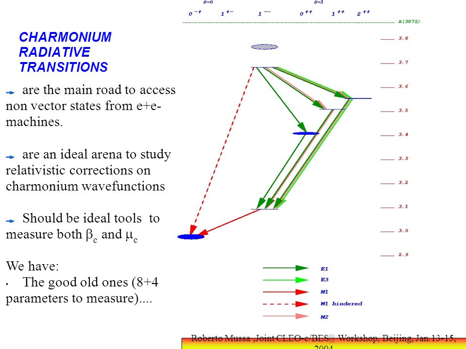 CHARMONIUM RADIATIVE TRANSITIONS are the main road to access non vector states from e+e- machines.