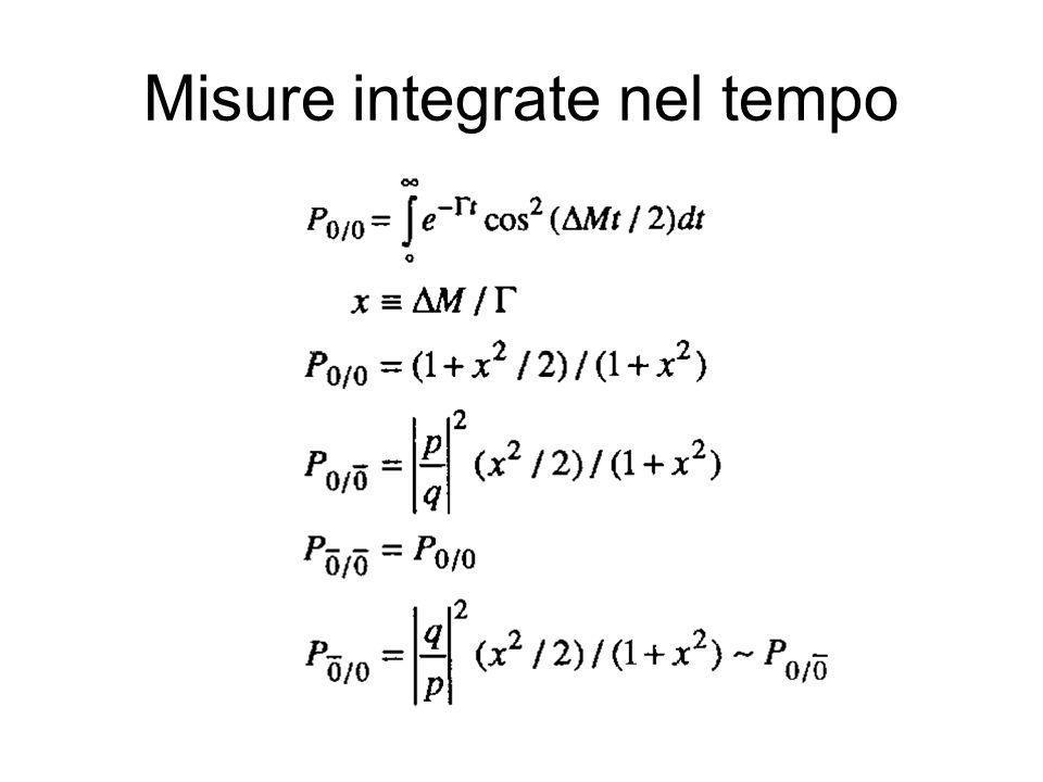 Misure integrate nel tempo