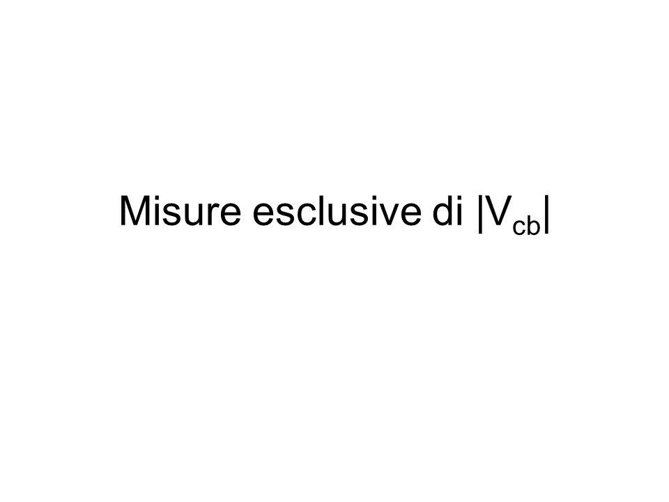 Misure esclusive di |V cb |