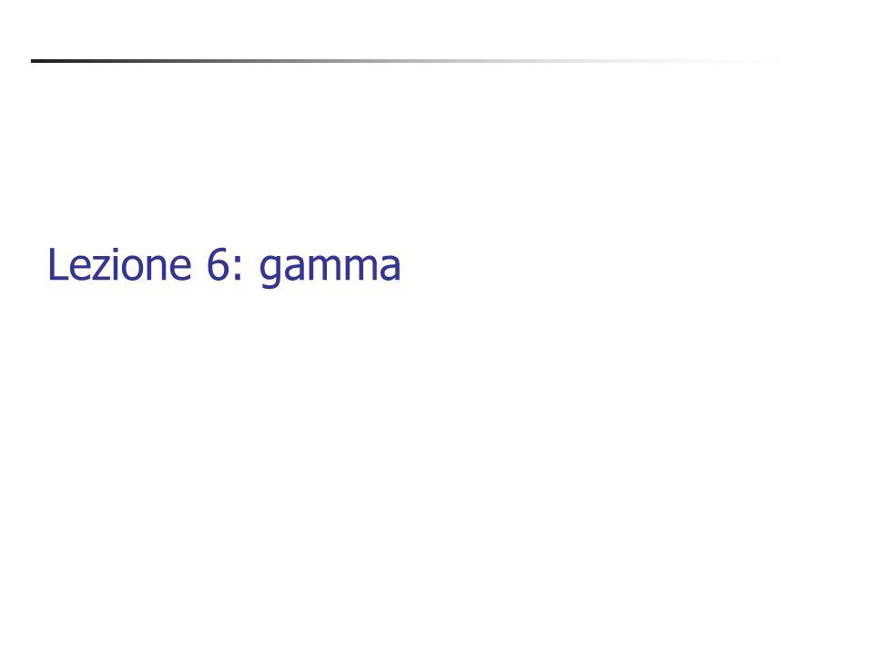 Lezione 6: gamma