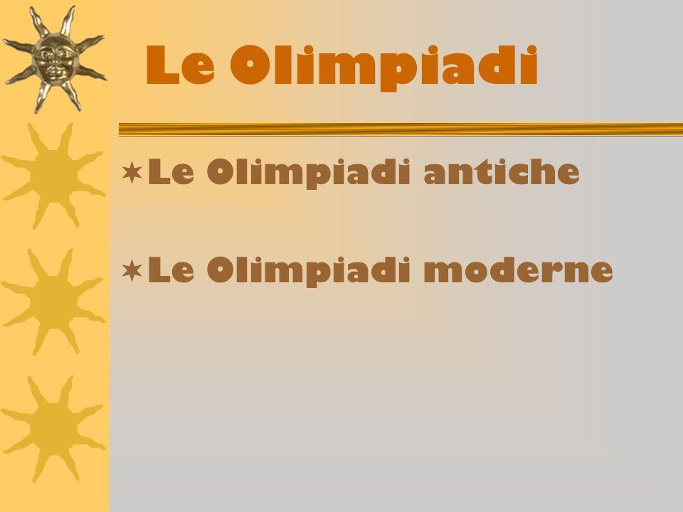 Le olimpiadi antiche