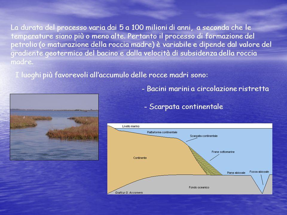 La durata del processo varia dai 5 a 100 milioni di anni, a seconda che le temperature siano più o meno alte. Pertanto il processo di formazione del p