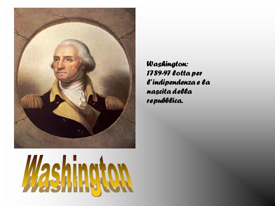 Jefferson: 1801-09 simbolo dellidea per la rappresentatività del governo.