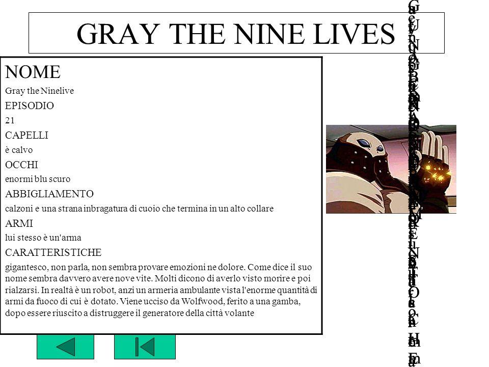 GRAY THE NINE LIVES NOMENOME Gray the NinelivesGray the Ninelives GUNG HO GUNS n°GUNG HO GUNS n° EPISODIOEPISODIO 2121 CAPELLICAPELLI è calvoè calvo O