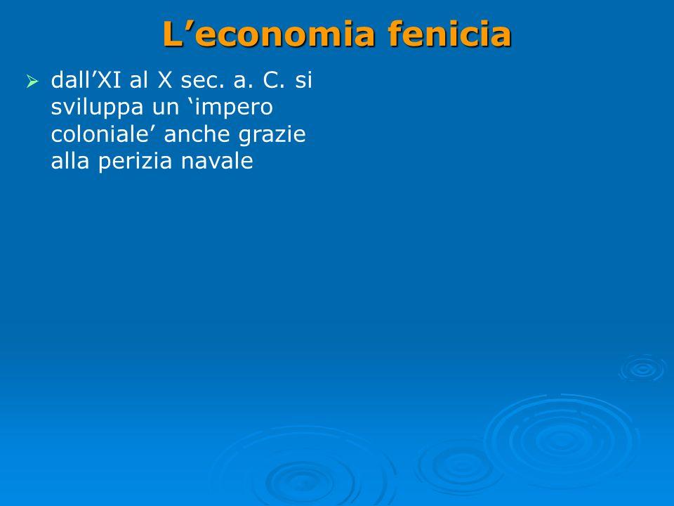 Leconomia fenicia dallXI al X sec.a. C.