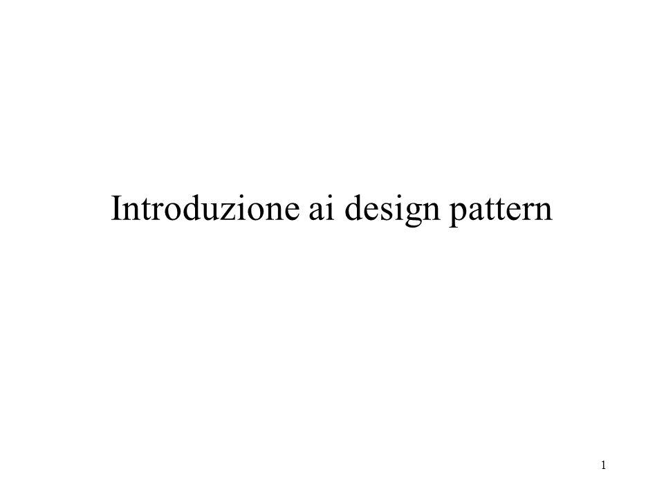 1 Introduzione ai design pattern