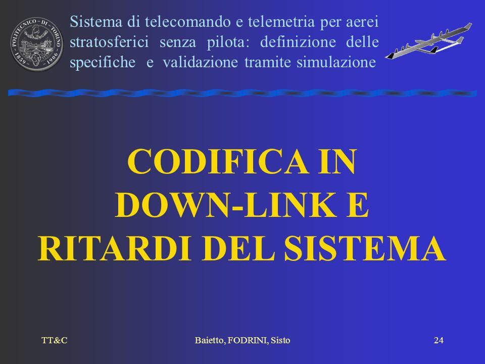 TT&CBaietto, FODRINI, Sisto24 CODIFICA IN DOWN-LINK E RITARDI DEL SISTEMA Sistema di telecomando e telemetria per aerei stratosferici senza pilota: de