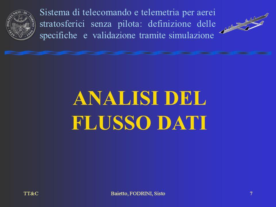 TT&CBaietto, FODRINI, Sisto7 ANALISI DEL FLUSSO DATI Sistema di telecomando e telemetria per aerei stratosferici senza pilota: definizione delle speci