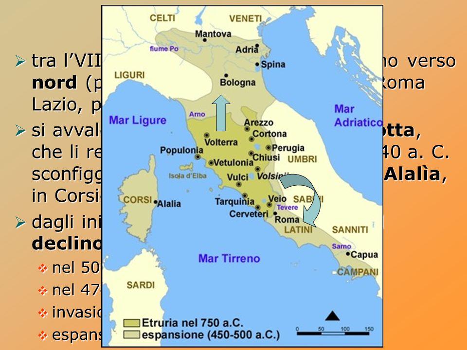 Gli Etruschi in Italia tra lVIII e il V secolo a.C.