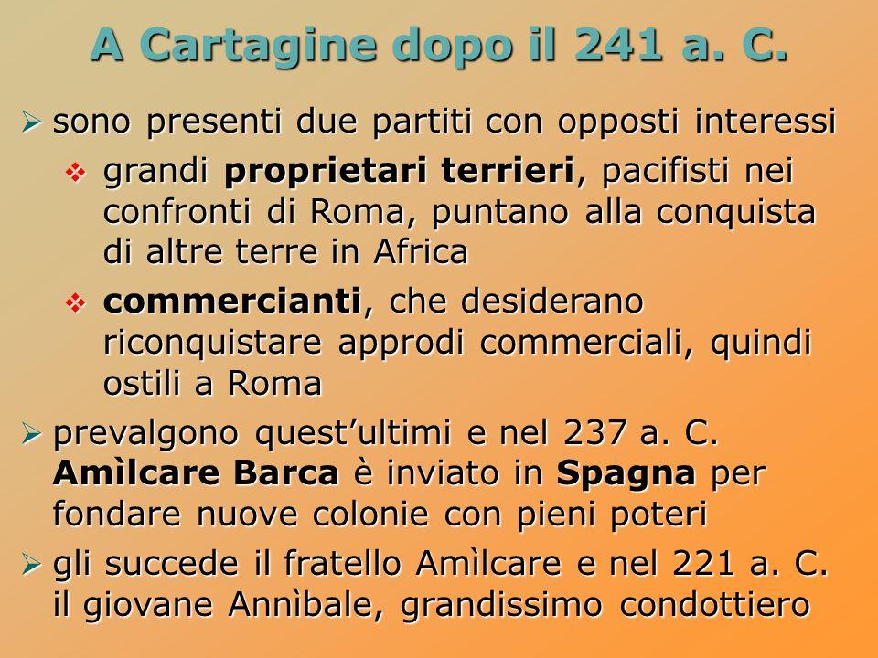 A Cartagine dopo il 241 a.C.
