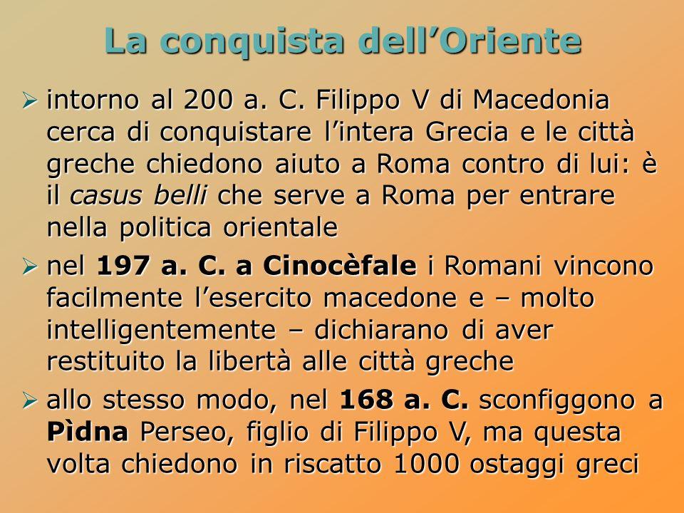 La conquista dellOriente intorno al 200 a.C.