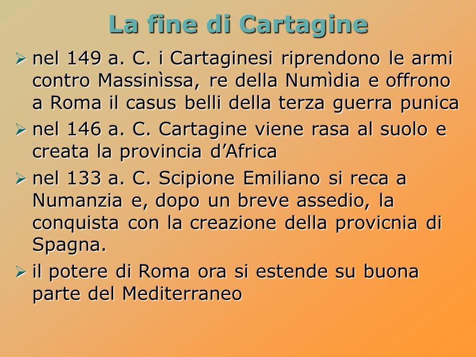 La fine di Cartagine nel 149 a.C.